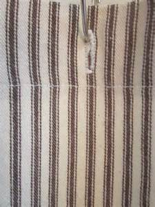 ticking stripe shower curtain with buttonholes 9 by