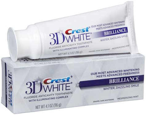 toothpaste whitening crest 3d white brilliance toothpaste whiter smile