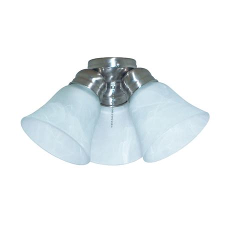 ceiling fan with shade shop harbor 3 light brushed nickel ceiling fan