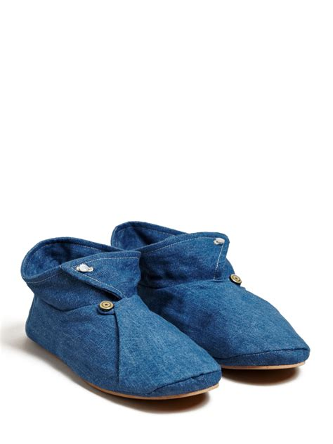 denim slippers levis denim and silk slipper shoes in for lyst