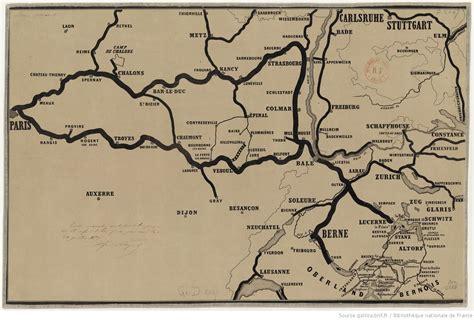 carte des chemins de fer de l est et de la suisse