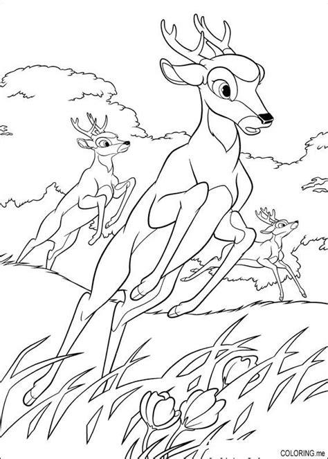 running deer coloring page coloring page deer run coloring me