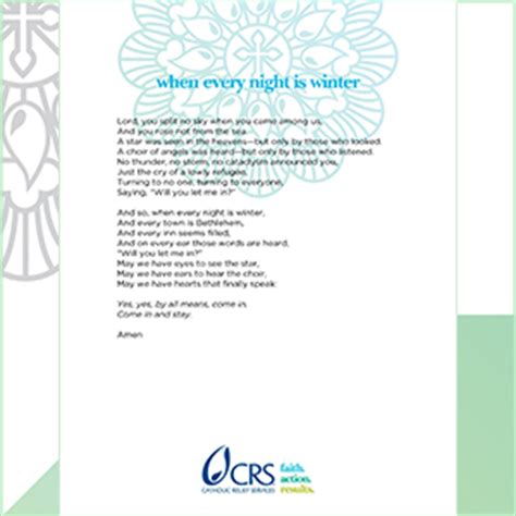 christmas prayers from catholic relief services