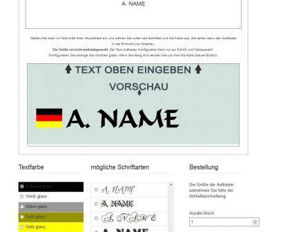 Auto Sticker Deutschland namensaufkleber autosticker mit deutschland flaggen aufkleber