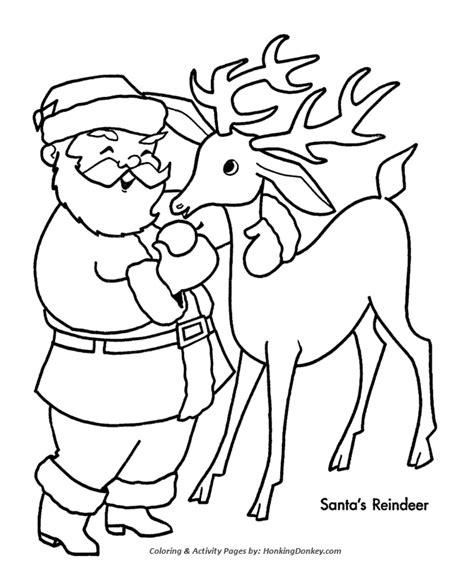 coloring pages santa reindeer kids reindeer coloring search results calendar 2015