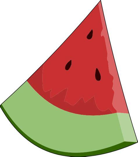 watermelon clip watermelon slice wedge clip at clker vector clip