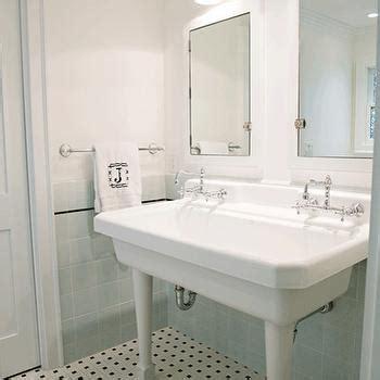 bathroom utilities one bathroom sink two faucets design ideas
