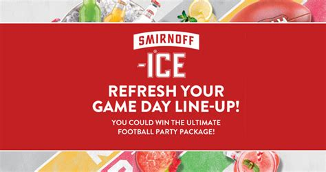 Text Sweepstakes 2017 - enter to win the smirnoff ice game day sweepstakes 2017