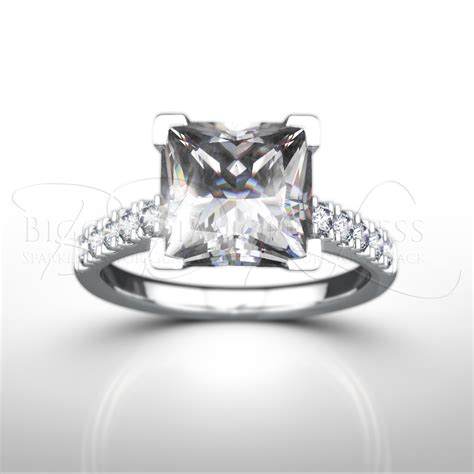 shoulder set princess cut engagement ring valentina