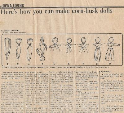 corn husk dolls directions shallow thoughts from iowa cornhusk doll