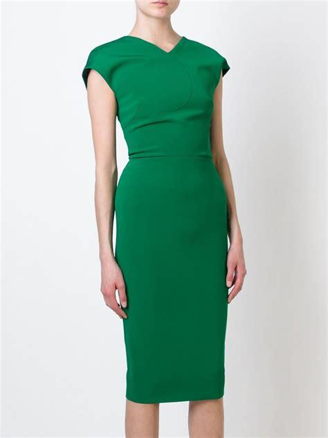 Beckham Dress lyst beckham cap sleeve dress in green