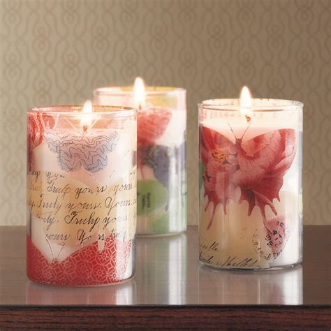 butterfly decoupage candles gump s
