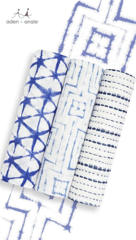 Aden Anais Silky Soft Blanket Berry Shibory Selimut Bayi silky soft swaddles indigo shibori muslin baby wraps fabrics blankets and cloths