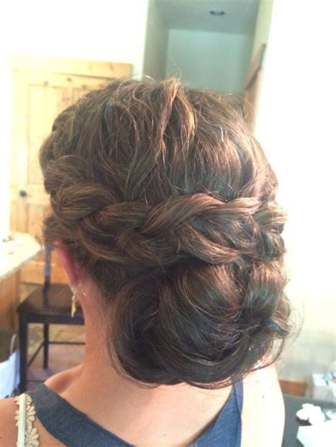 17 Best ideas about Thick Hair Updo on Pinterest   Simple