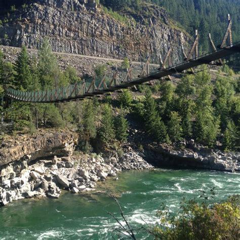 swinging bridge montana swinging bridge montana montana landscape pinterest