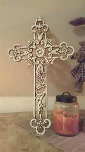 Home Decor Crosses by Wall Cross Wrought Iron Cross Home Decor Shabby Chic Cross