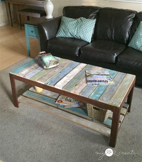 what to put on a coffee table remodelaholic update a glass top coffee table with a pallet