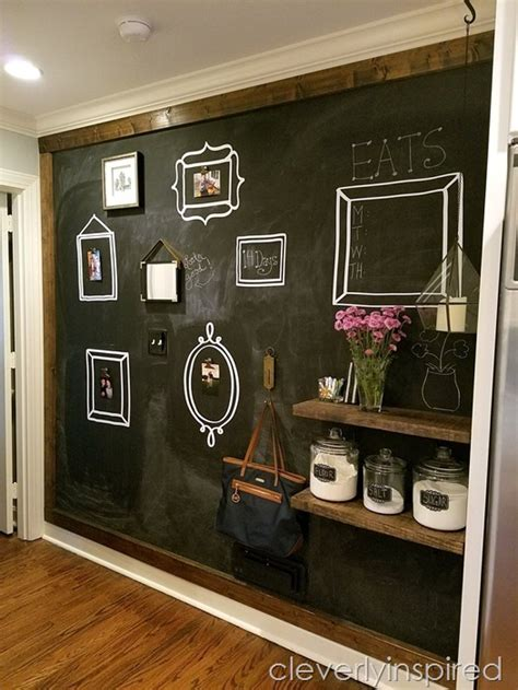 large diy kitchen chalkboard cleverly inspired