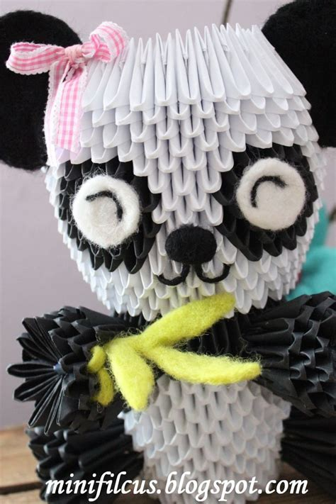 3d Origami Panda Tutorial - mini filcu蝗 panda origami 3d tutorial origame