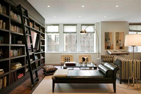 bibliothek weiß wohnzimmer regalwand system surfinser