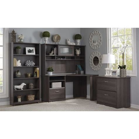 bush cabot collection 60 inch l shaped desk bush furniture cabot collection corner desk with hutch