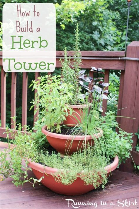 how to build a herb tower garden diy vertical planter