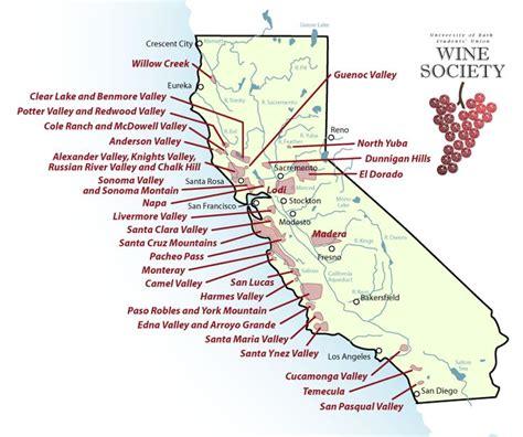 wine country northern california map california wine guide cork barrel