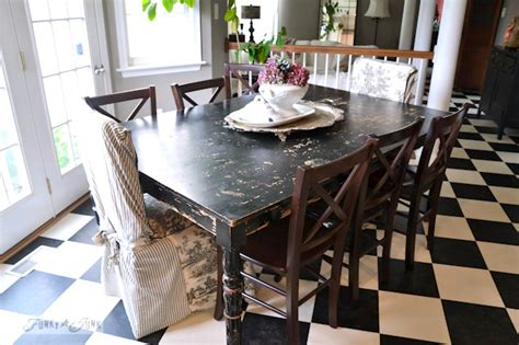distressed black kitchen table the graphics s interior decorating