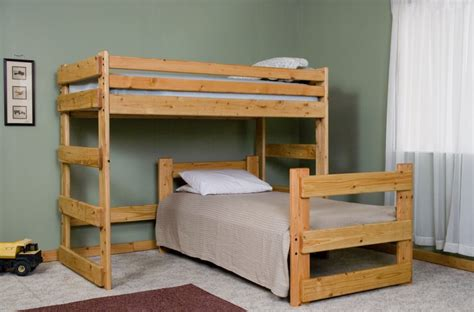 offset bunk beds l shaped bunk bed plans bed plans diy blueprints