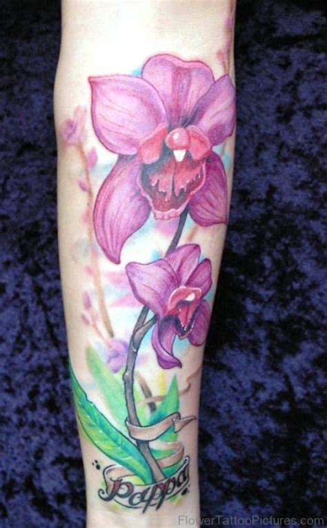 100 fabulous orchid flower tattoos