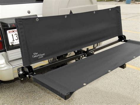 hitch bench the take a seat 3 in 1 bench cargo holder bike rack
