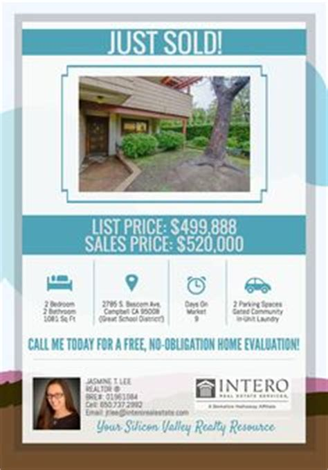 real estate just sold flyer templates open house flyer original marketing pieces i ve created