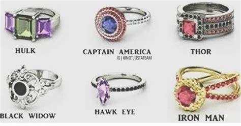 avengers inspired engagement rings super pinterest