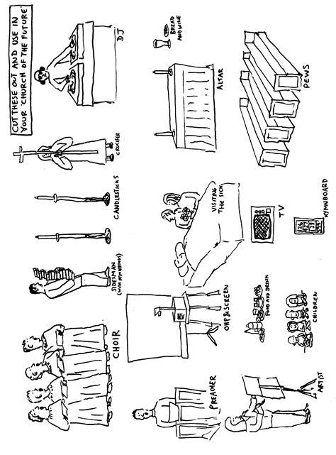Cartoon Worksheet: The church of the future