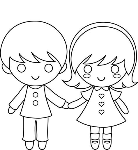 Boy And Girl Templates Printable Loving Printable Picture Of Boy And Free