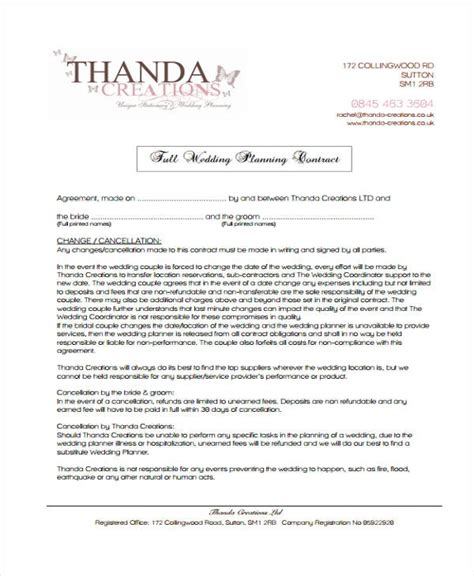 wedding planning contract templates wedding planning contract templates invitation template