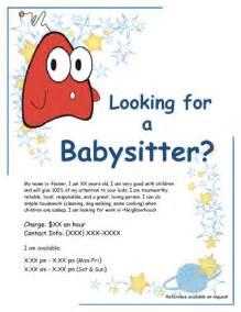 Babysitting Flyer Free Template babysitting flyer template free like success