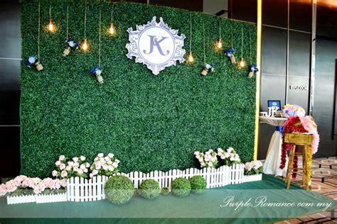 Wedding Backdrop Green by Royal Blue Outdoor Garden Wedding Theme At Connexion