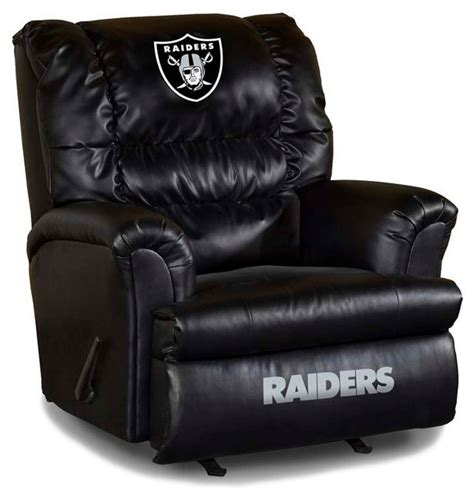 Raiders Furniture oakland raiders nfl big leather recliner