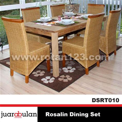 Set Meja Makan Rotan harga jual rosalin dining set meja makan rotan alami model gambar