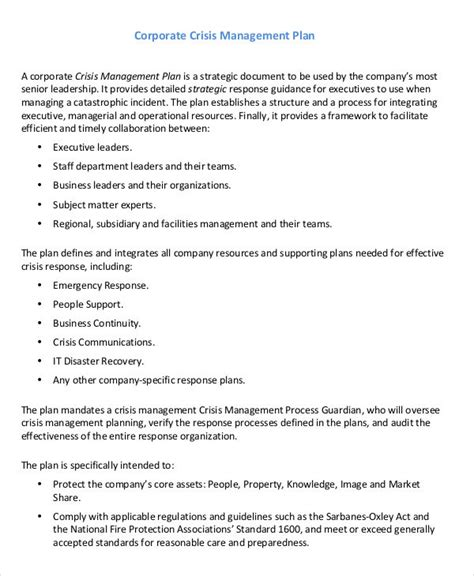 10 Crisis Management Plan Templates Free Sle Exle Format Downlaod Free Premium Crisis Management Plan Template