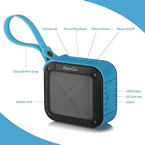 Portable Speaker Bluetooth Advance Es010 Radio Slot Memory neego outdoor portable bluetooth speaker waterproof with sd memory card slot ebay