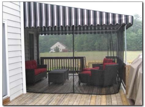 deck awnings with mosquito netting capitol awninginsect curtains capitol awning