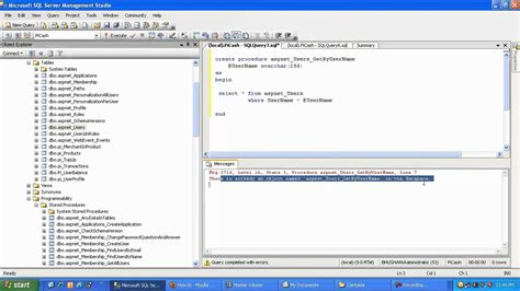 sql parameterized query tutorial sql server create stored procedure with input parameter