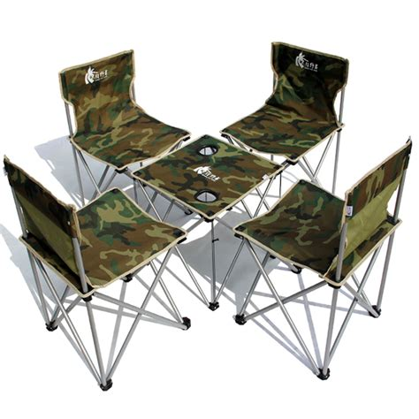 Outdoor Folding Table And Chairs Camouflage Outdoor Folding Tables And Chairs Portable 5 Set Tables And Chairs