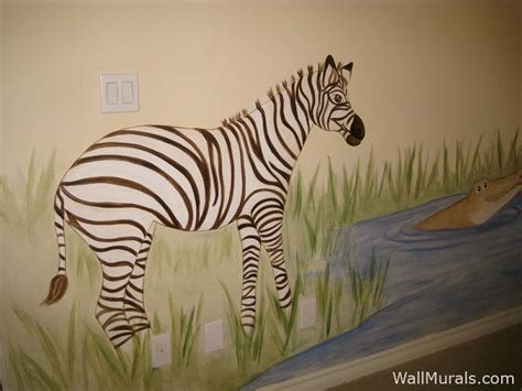 zebra wall murals jungle wall murals by colette safari jungle themed murals