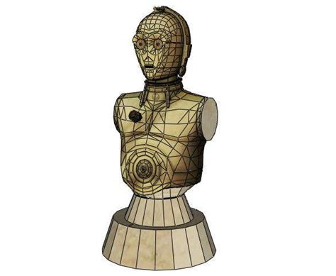 Paper Craft Square - c 3po papercraftsquare free papercraft