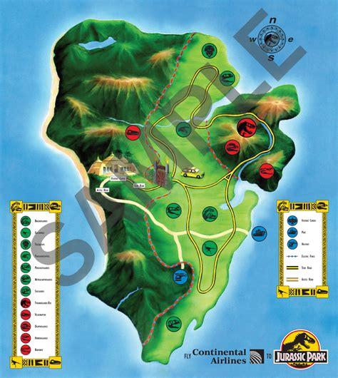 jurassic park map jurassic world wmg tv tropes