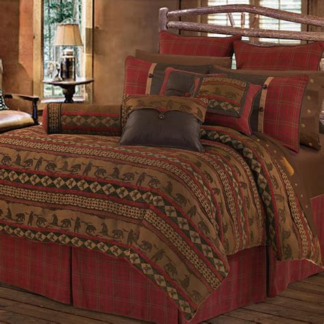 Cabin Bedding Set Deer Mountain Bedding Collection Cabin Place