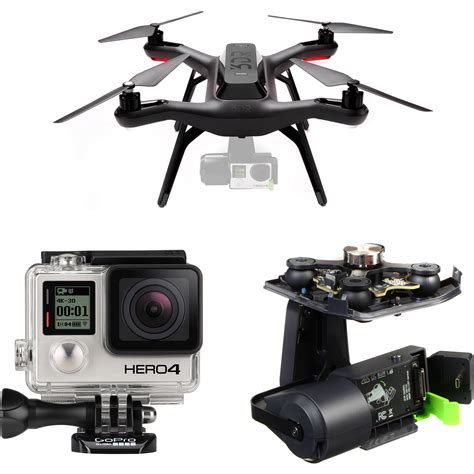 Quadcopter Gopro 3dr quadcopter kit with gimbal gopro hero4 black b h